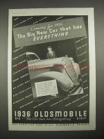 1936 Oldsmobile Car Ad - Has Everything