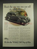 1935 Body By Fisher Car Ad w/ 1936 Buick Century