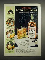 1940 Glenmore's Kentucky Tavern Bourbon Whiskey Ad - Aristocrat