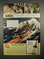 1940 Canadian's Club Whiskey Ad - Convert From Hawaii