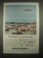 1940 American Airlines Ad - Travel the Easy Way