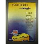 1940 TWA Airline Ad - Up Above the World So High