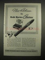 1940 Robt. Burns Coronas Cigar Ad - New Richness