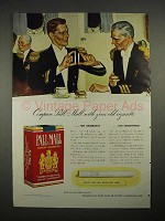 1940 Pall Mall Cigarette Ad - Compare With Your Old Cigarette