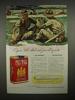 1940 Pall Mall Cigarette Ad - Compare With Old Cigarette