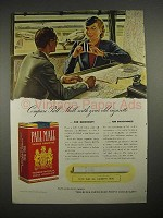 1940 Pall Mall Cigarette Ad - Compare