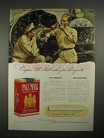 1940 Pall Mall Cigarette Ad - Compare With Your Old