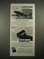 1940 Ediphone Voicewriter Ad w/ Bell Airacobra Plane