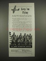 1940 U.S. Army Recruiting Service Ad - Keep 'Em Flying