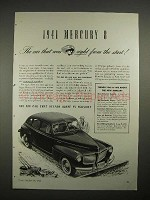 1941 Mercury 8 Car Ad - Right From The Start!