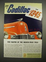 1940 Cadillac Car Ad - New Master of Medium Price Field