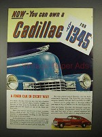 1940 Cadillac Sixty-One Car Ad - Finer in Every Way