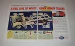 1941 White Truck Ad - Full Line Of Super Power Trucks