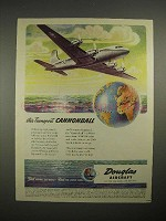 1944 WWII Douglas Aircraft C-54 Transport Ad!