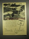 1944 Beechcraft AT-11 Bombardier Trainer Plane Ad