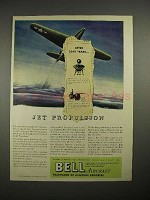 1944 Bell Aircraft Ad - Jet Propulsion