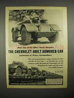 1944 WWII Chevrolet Armored Car Ad - Staghounds