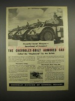 1944 WWII Chevrolet Armored Car Ad - Staghounds - Secret Weapon