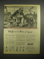 1944 WWII Sperry Corp. Ad - G.I. Joe 12 Tons Baggage
