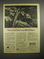 1944 WWII Sperry Corp. Ad - Field Artillery