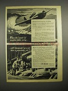 1944 WWII International Nickel Ad - Smoke of Warfare