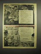 1944 WWII International Nickel Ad - Dishing it Out