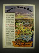 1944 Norfolk and Western Railway Ad - Room to Grow