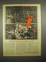 1944 WWII Victor Adding Machine Ad - Own Back Yard