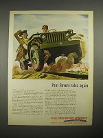 1944 WWII Revere Copper and Brass Ad - Jeep