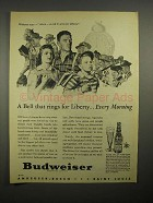 1945 Budweiser Beer Ad - Bell That Rings for Liberty