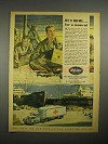1945 WWII White Truck Ad, POW - He's Home