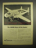 1946 Fairchild Packet Cargo Plane Ad - Inside Story