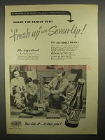 1949 7up Soda Ad - Share the Family Fun, Fresh Up