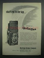 1950 Rollei Rolleiflex Camera Ad - Short Cut to the Top