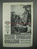 1951 When Worlds Collide Movie Ad - Never Before Filmed
