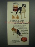 1951 Dash Dog Food Ad - Boston Terrier