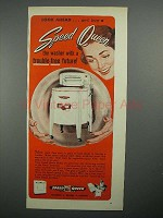 1951 Speed Queen Washing Machine Ad - Trouble-Free