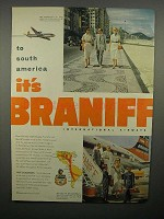 1952 Braniff International Airways Ad - South America