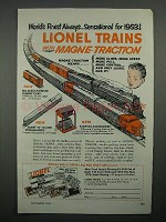 1953 Lionel Trains Ad - Coaling Station, Magne-Traction