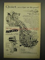 1955 Mercury Mark 25E Outboard Motor Ad - Tiger