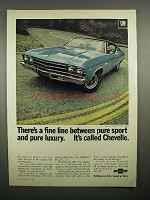 1969 Chevrolet Chevelle SS 396 Sport Coupe Car Advertisement