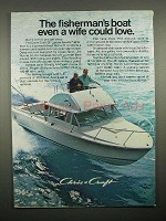 1969 Chris-Craft 25' Lancer Sports Fisherman Boat Ad