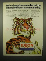 1973 Exxon Gasoline Ad - Keep Farm Machines Moving