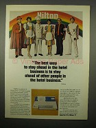 1973 Hilton Hotel Ad - Stay Ahead of Other People