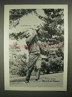 1973 March of Dimes Ad w/ Arnold Palmer