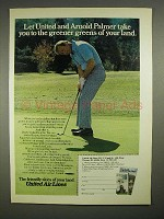 1973 United Air Lines Ad w/ Arnold Palmer