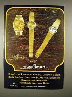 1973 Bucherer Rolex Watch Ad - If You're In