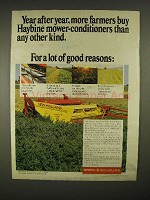 1973 Sperry New Holland Model 479 Haybine Ad