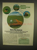 1973 Hesston PT-7 and PT-10 Windrowers Ad