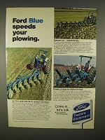 1973 Ford 8600 Tractor Ad - Speeds Your Plowing
